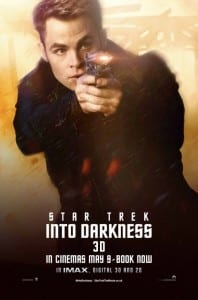 Star Trek Into Darkness - Captain Kirk Advance Poster Style B - Courtesy of Paramount Pictures