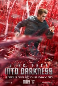 Star Trek Into Darkness - Captain Kirk Advance Theatrical Poster - Courtesy of Paramount Pictures