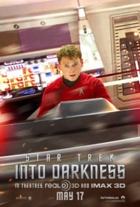 Star Trek Into Darkness - Chekov Advance Poster - Courtesy of Paramount Pictures and MovieFone