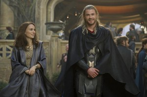 Thor: The Dark World - Natalie Portman and Chris Hemsworth - Courtesy of Marvel Studios and USA Today