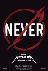 Metallica Through The Never - Theatrical Poster - Courtesy of Picturehouse Entertainment