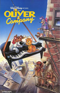 Oliver & Company - Theatrical Poster - Courtesy of Walt Disney Pictures
