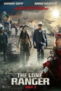 The Lone Ranger - Theatrical Poster Style B - Courtesy of Walt Disney Pictures