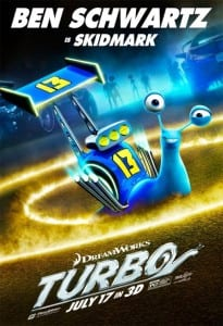 Turbo - Ben Schwartz Advance Theatrical Poster - Courtesy of Dreamworks