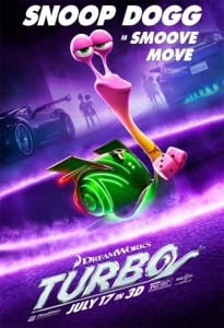Turbo - Snoop Dogg Advance Theatrical Poster - Courtesy of Dreamworks