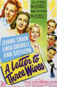 A Letter To Three Wives - Theatrical Poster - Courtesy of 20th Century Fox