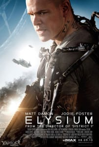 Elysium - IMAX Theatrical Poster - Courtesy of Yahoo! Movies and TriStar Pictures