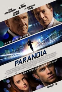 Paranoia - Theatrical Poster - Courtesy of Relativity Media