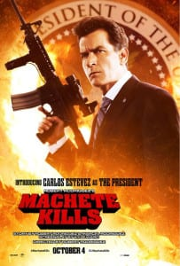 Machete Kills - Carlos Estevez Advance Theatrical Poster - Courtesy of Open Road Films