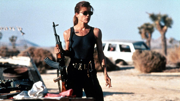 Sarah Connor Terminator 2: Judgement Day 1991 via Ironing Board Collective